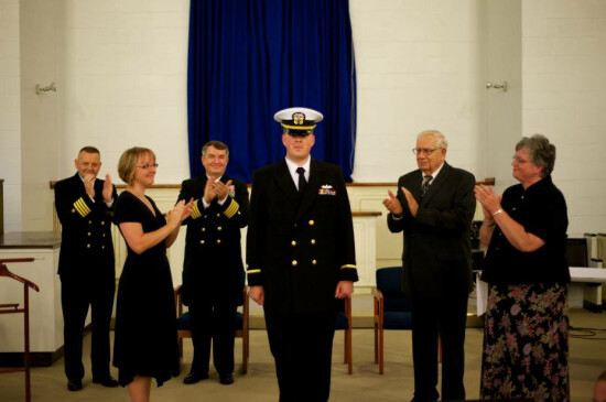 Chaplain Commissioning - Clapping